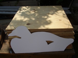 Cutting out scoter patterns